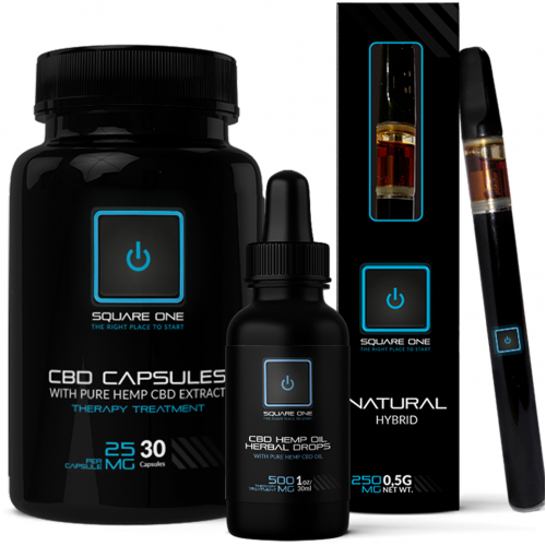 CBD packaging layout and logo