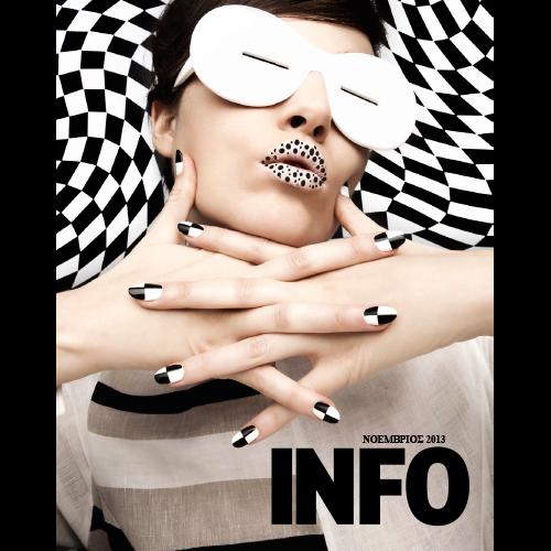Cover design for INFO free-press newspaper