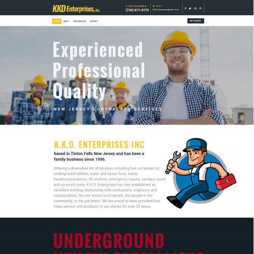 construction service template design