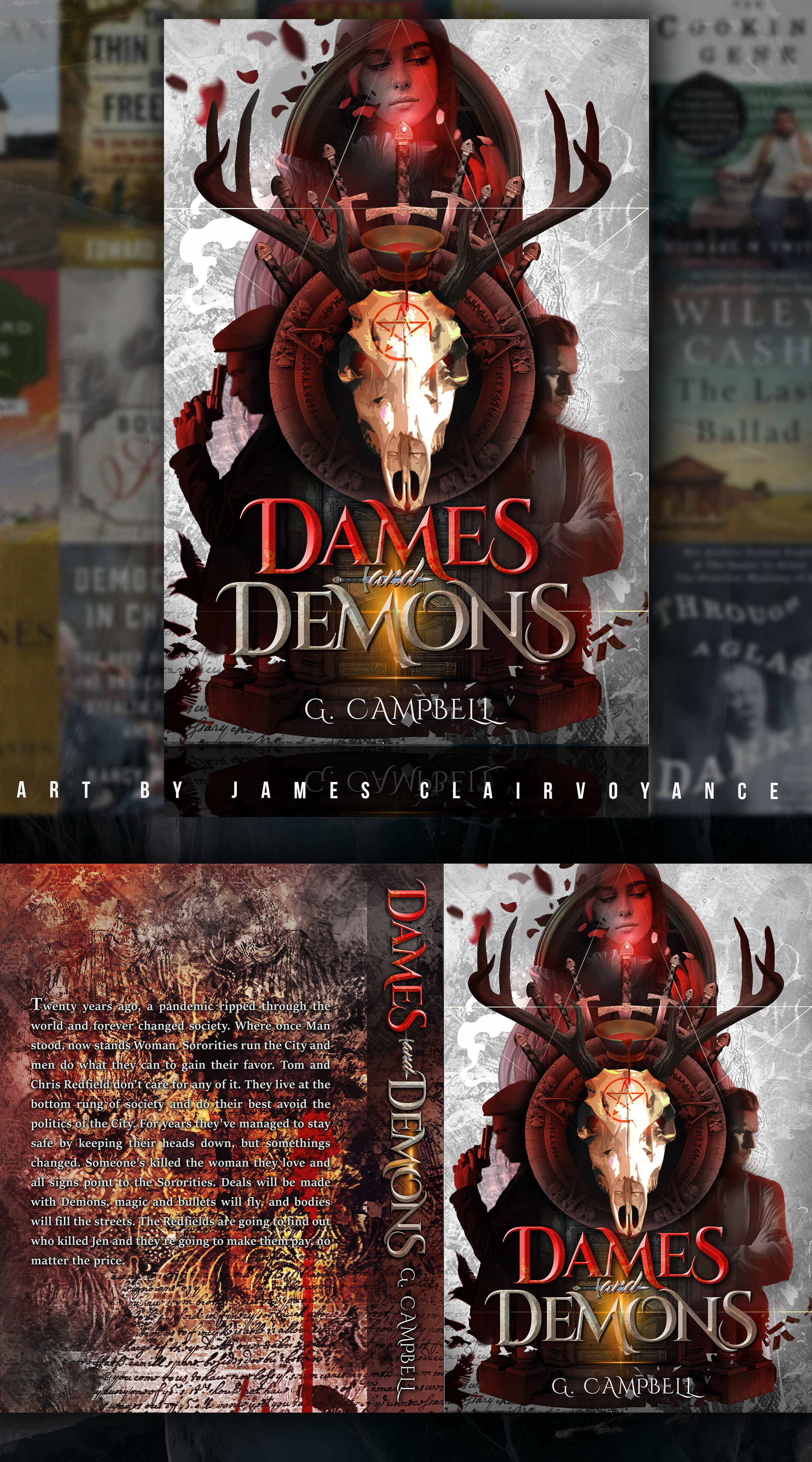 Dames and Demons Cover Design
