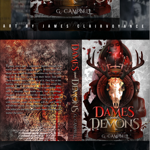 Dames and Demons Book Cover Design