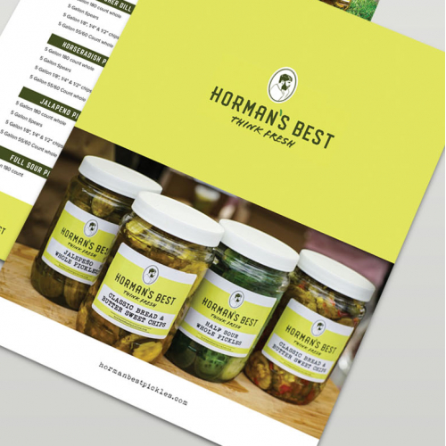 Sales Sheet Design for Horman's Pickle
