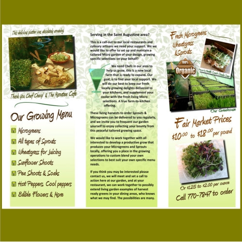 Print flyer for small farm back side