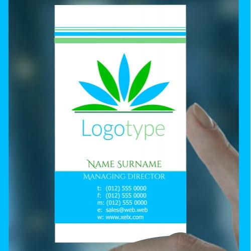 Leaf logo business card design