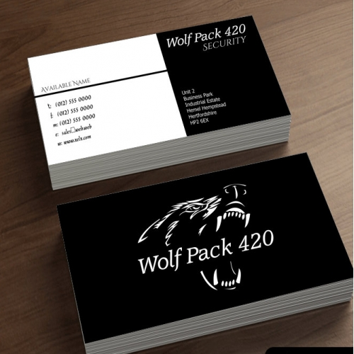 Wolf Pack Business card design.