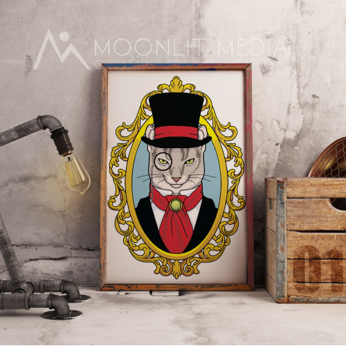 Aristocat Glass Custom Illustration