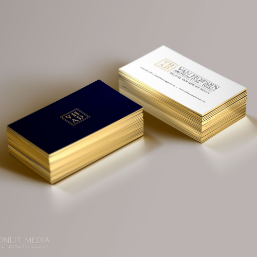 Van Hoesen Architecture   Design Business Cards