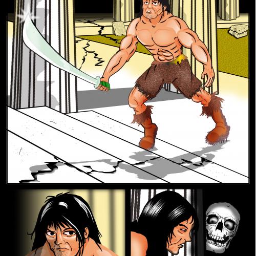 Conan comic scene