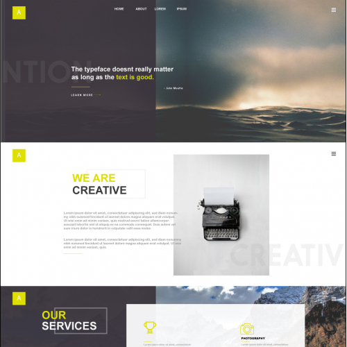 Creatives Portfolio Type Website