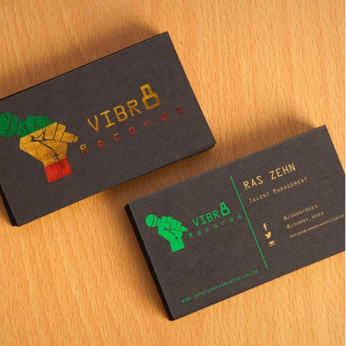 VIBRATE RECORDS Business Cards