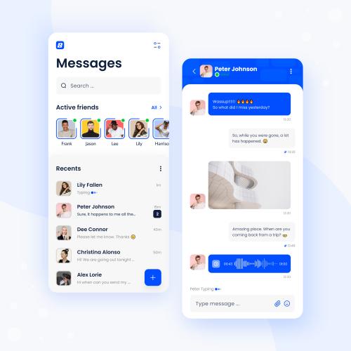 Chat Mobile App Design