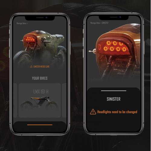 electric bike app UI/UX design