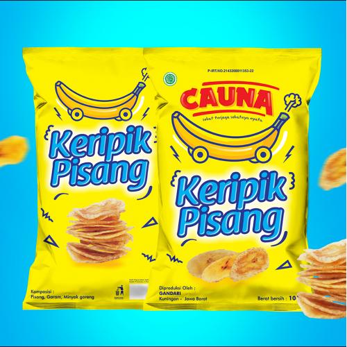 Banana Chips label