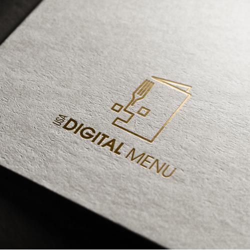 Digital restaurant menu provider company logo