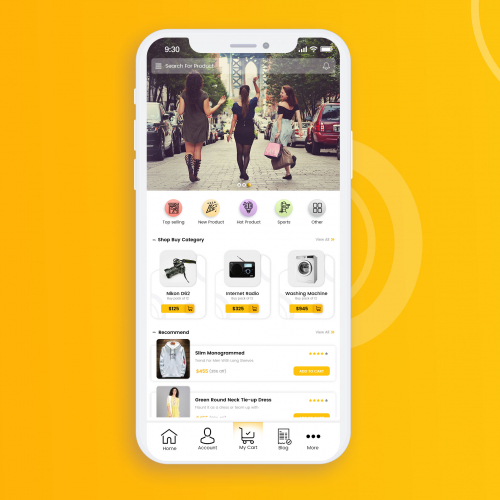 This is an eCommerce App, a perfect design with perfect