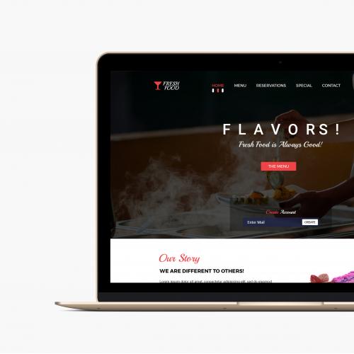Resturent Website Design