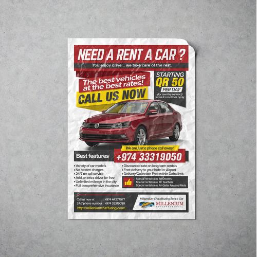 Rent Car Brochure