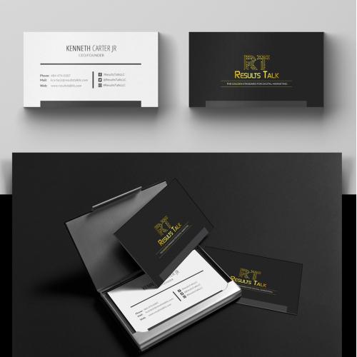ResultsTalkLLC Business Card Design