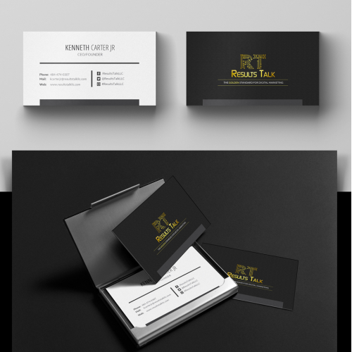 ResultsTalkLLC Business Card Design