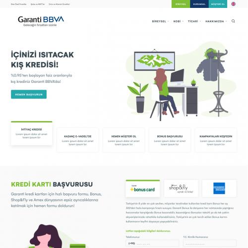 Garanti Bank Landing Page Re-Design