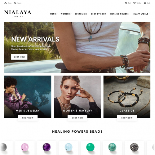 Nialaya Jewelry Website Re-Design