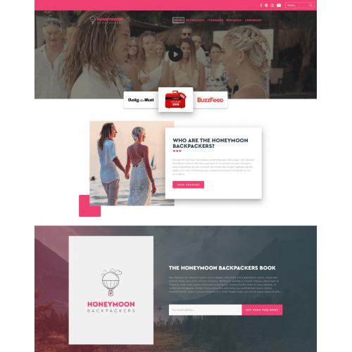 Honeymoon Backpackers Custom Wordpress Website