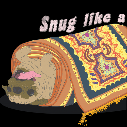 Pug in a Rug