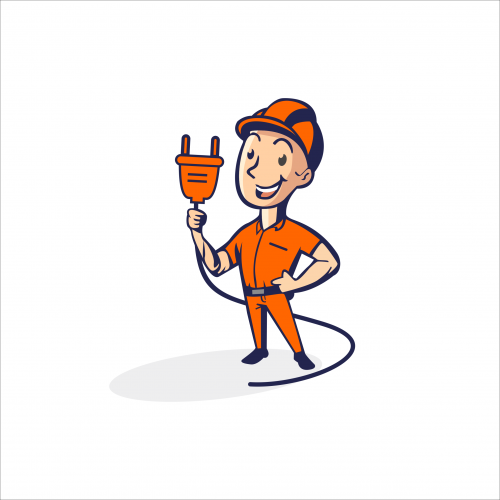 electrical mascot logo