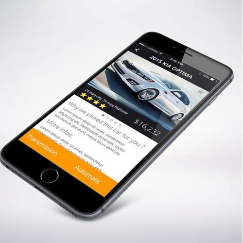 Car shop App: UI/UX project