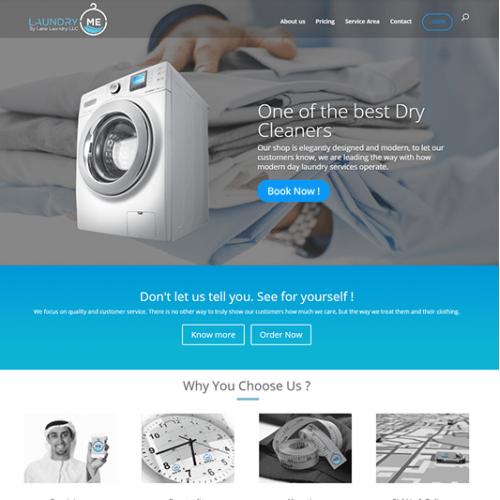 Laundry Company website: Design and development
