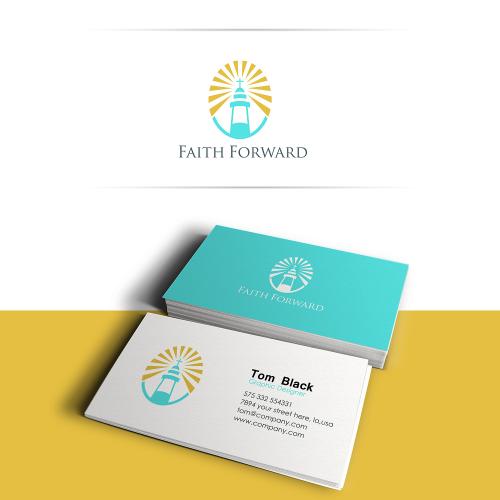 Faith Forward logo and Business card design