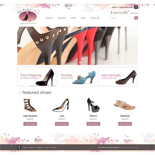 Fashionable Heels and Shoes Website Design