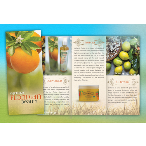 Florida Oranges Skin Product Brochure Design