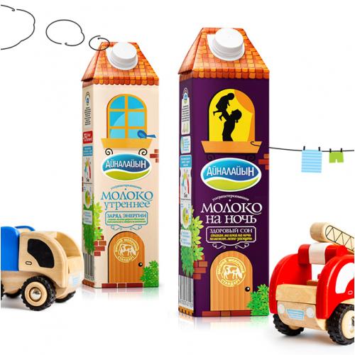 Packaging Design for milk