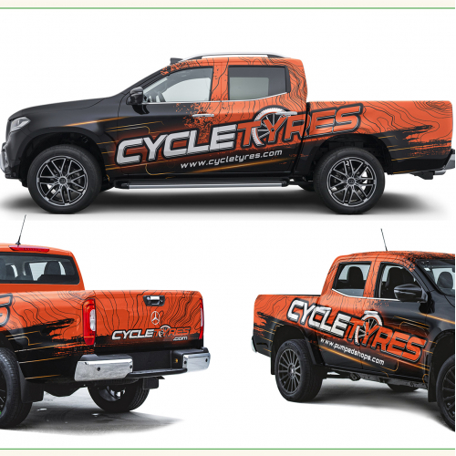 Cycletyres.com Truck Wrap
