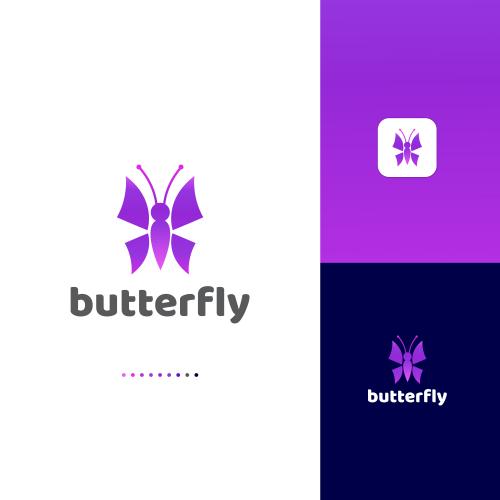 Butterfly Logo design by sahinurrahman24