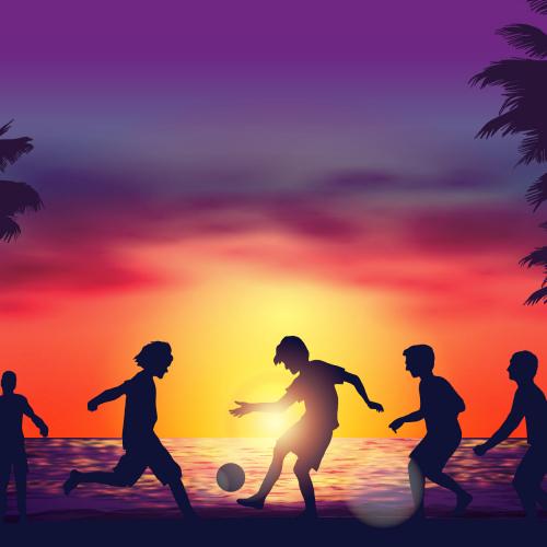 sunset vector art design........