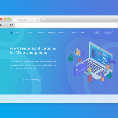 MULTIPURPOSE ONE PAGE WEBSITE TEMPLATE | UI CONCEPT