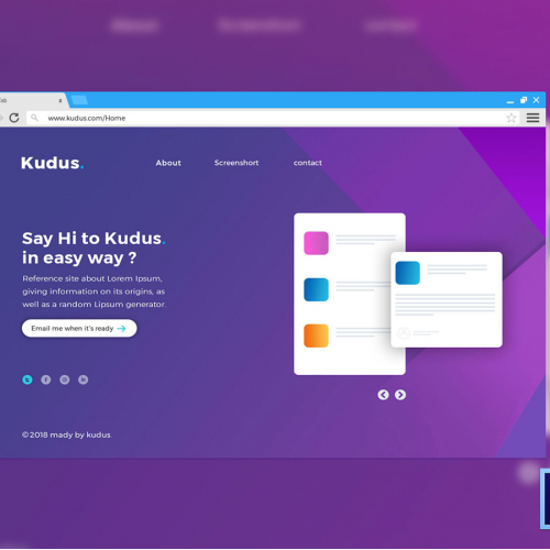 MULTIPURPOSE ONE PAGE WEBSITE TEMPLATE   UI CONCEPT