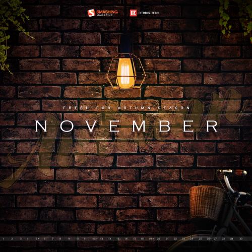 Desktop wallpaper with Calendar for Smashing Magazine