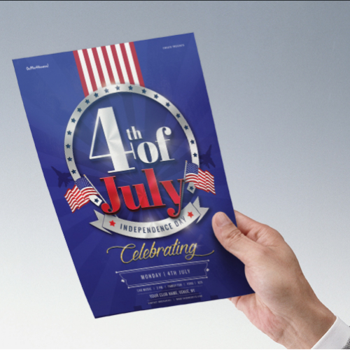 Flyer and Poster Design for Independence Day