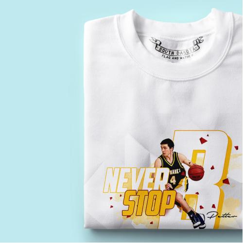 Basketball themed design for t-shirt