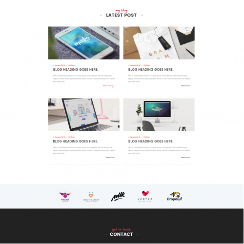 Part 3 of Home page for Multipurpose Theme