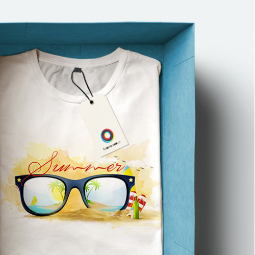 Summer-themed T-shirt design