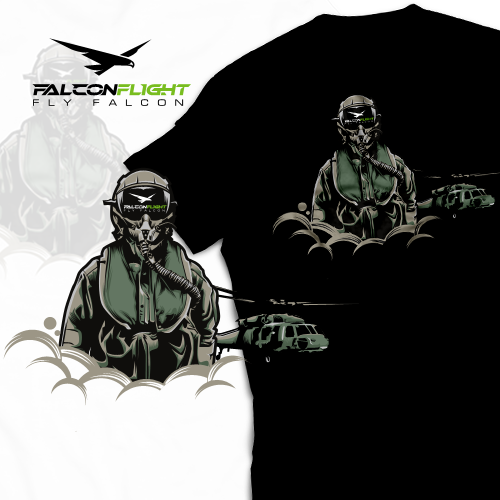 FalconFlight T-shirt Back Piece