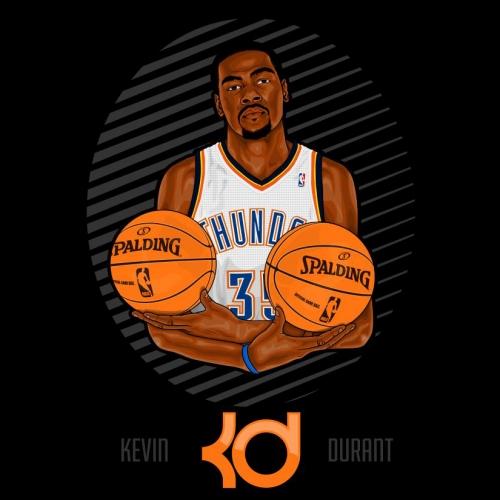 Kevin Durant Illustration Design