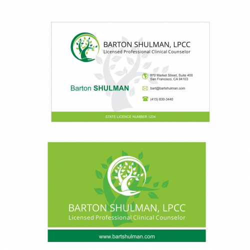business card for health company