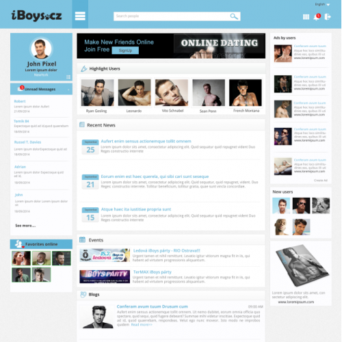Dating Web Template