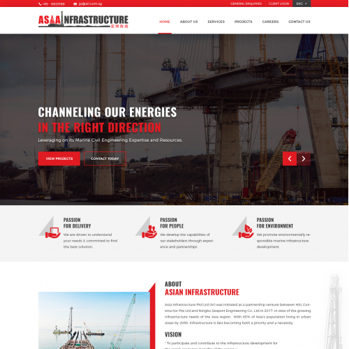 Website for a Marine Civil Engineering Company
