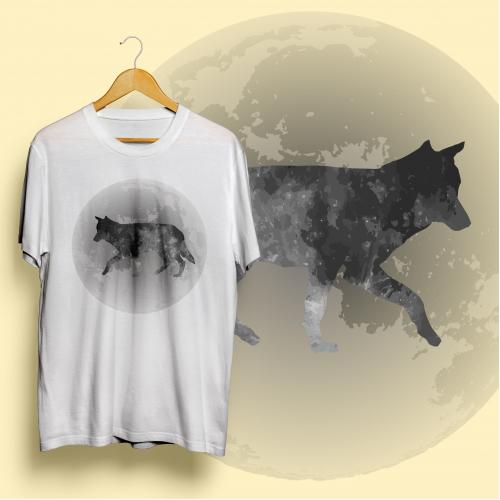 Wolf shirt design